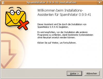 Spamihilator 0.9.9.41 Installation 1