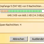 Spamihilator: Email-Download