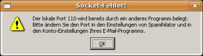 Spamihilator: Socket-Fehler