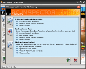 PCinspector File Recovery