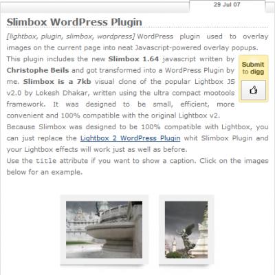 Slimbox WordPress Plugin
