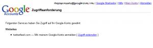 Google: Zugriffsanforderung