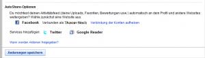 YouTube AutoShare