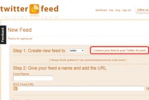 Twitterfeed.com: Feed