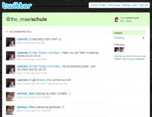 Twitter: List Schule
