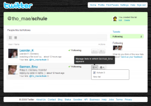 Twitter: Manage Lists