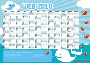 Twitter Wandkalender 2010
