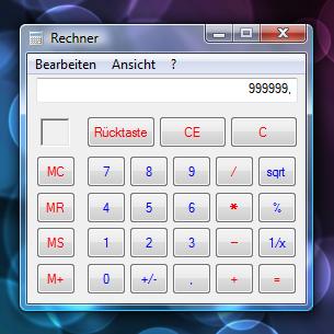 Windows: Taschenrechner