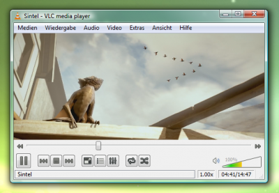 VLC media player: Wiedergabe
