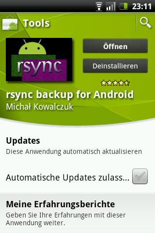 Inkrementelle Backups mit rsync unter Android | Webprosa