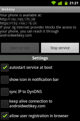 Webkey for Android 1